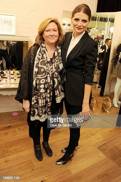 Mischa Barton and mother Nuala attend the Mischa Barton Boutique flagship store launch party at Old Spitalfields Market on August 8 2012 in London...