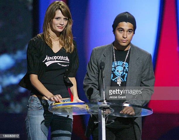 Mischa Barton and Wilmer Valderrama during The 2004 Teen Choice Awards Show at Universal Amphitheatre in Universal City California United States