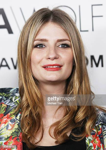 Mischa Barton arrives at the Dahlia Wolf launch party held at Graffiti Cafe on October 22 2013 in Los Angeles California