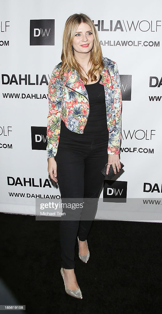 Mischa Barton arrives at the Dahlia Wolf launch party held at Graffiti Cafe on October 22, 2013 in Los Angeles, California.