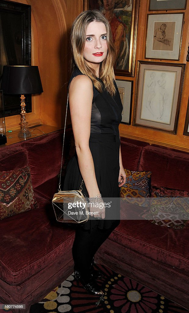 Mischa Barton attends a party celebrating the new partnership between Johnnie Walker Blue Label and model David Gandy at Annabels on February 5, 2013 in London, England.