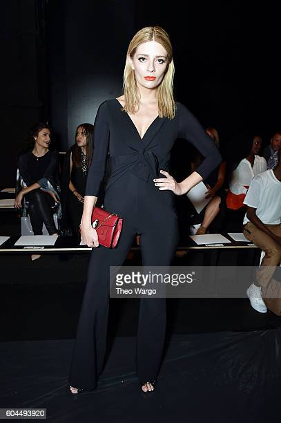 Mischa Barton attends the Chiara Boni La Petite Robe fashion show during New York Fashion Week The Shows at The Dock Skylight at Moynihan Station on...
