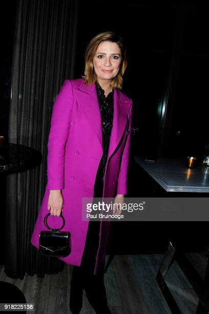Mischa Barton attends The Cinema Society with Ravage Wines Synchrony host the after party for Marvel Studios' 'Black Panther' at The Skylark on...