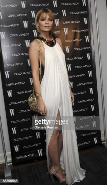 Mischa Barton attends The Dsquared2 and W Event at Chateau Marmont Penthouse 64 on November 6 2008 in Los Angeles California