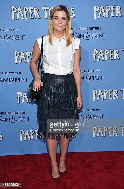 Mischa Barton attends the 'Paper Towns' New York Premiere at AMC Loews Lincoln Square on July 21 2015 in New York City