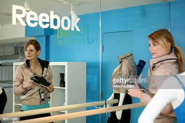 Mischa Barton checks out Reebok products at the Jukari Fit to Fly Studio on March 20, 2009 in Los Angeles, California.