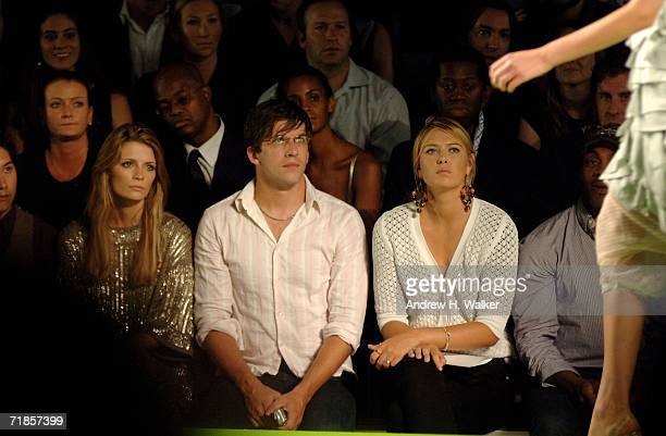 Mischa Barton Dan Renzi and athlete Maria Sharapova attend the Marc Jacobs Spring 2007 fashion show during Olympus Fashion Week at the NY State...