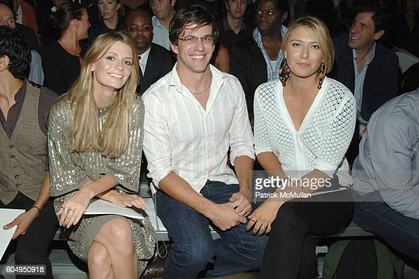 Mischa Barton Dan Renzi and Maria Sharapova attend MARC JACOBS Spring 2007 Fashion Show at New York Armory on September 11 2006 in New York City
