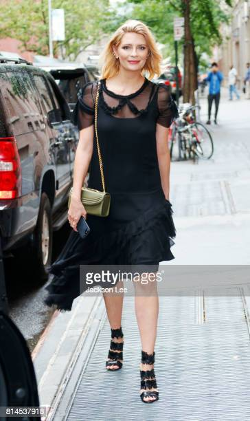 Mischa Barton departs ABC Studios on July 14 2017 in New York City