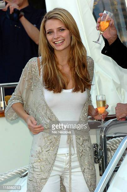 Mischa Barton during 2005 Cannes Film Festival 'The Decameron' Photocall at Yacht Satine in Cannes France