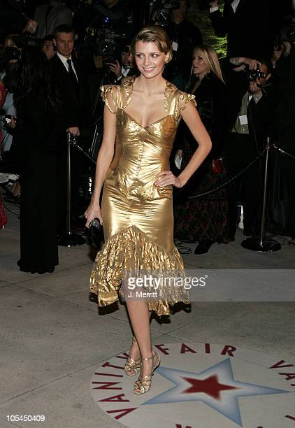 Mischa Barton during 2005 Vanity Fair Oscar Party at Mortons in Los Angeles, California, United States.
