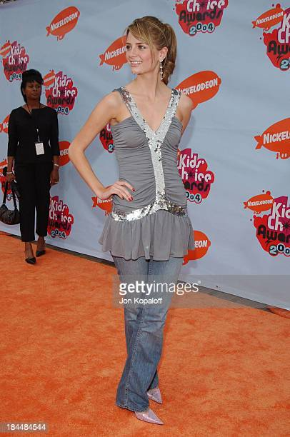 Mischa Barton during Nickelodeon's 17th Annual Kids' Choice Awards Arrivals at Pauley Pavillion in Westwood California United States
