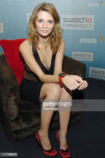 Mischa Barton during Swatch and Microsoft Launch 'Paparazzi' Watch Line at Supper Club in New York New York United States
