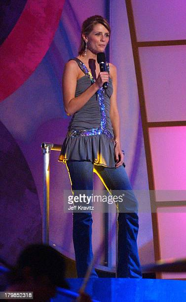Mischa Barton introduces Avril Lavigne during Nickelodeon's 17th Annual Kids' Choice Awards Show at Pauley Pavillion in Westwood California United...
