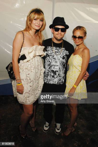 Mischa Barton Joel Madden and Nicole Richie attend the Elizabeth Glaser Pediatric AIDS Foundation A Time For Heroes Celebrity Carnival on June 8 2008...