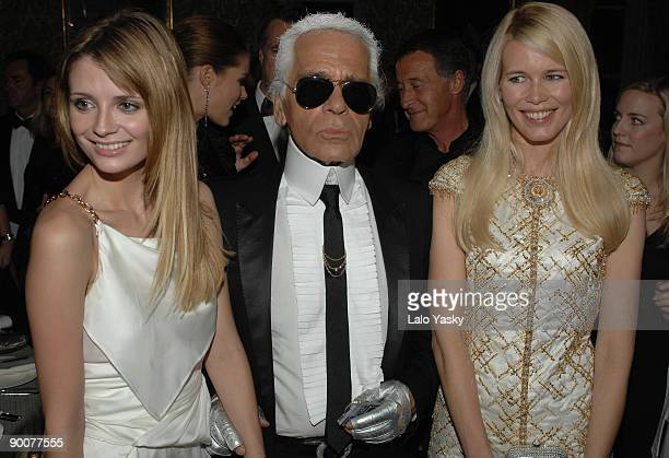 Mischa Barton Karl Lagerfeld and Claudia Schiffer