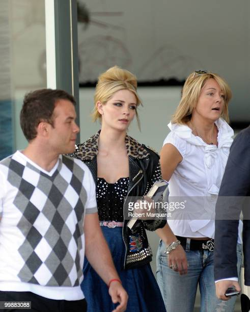 Mischa Barton visits Barcelona and prepares for the Rosa Clara Bridal Week catwalk on May 18 2010 in Barcelona Spain