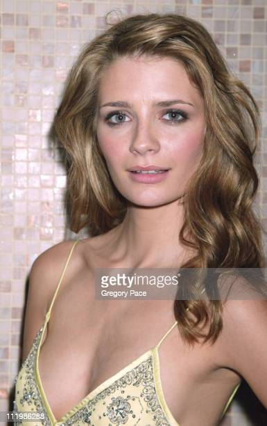 Mischa Barton wearing a Matthew Williamson dress during The Cast of the Fox TV Series 'The OC' YM Cover Party at LQ in New York City New York United...