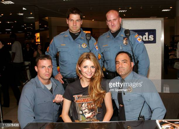 Mischa Barton with Paramus' finest during Mischa Barton Makes a Personal Appearance at Nordstrom Garden State Plaza on Behalf of Keds at Nordstrom in...