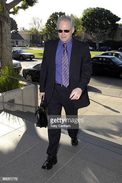 Mischa Bartons attorney Anthony V Salerno arrives at court for the actors arraignment on misdemeanor DUI and drug possession charges at the Beverly...
