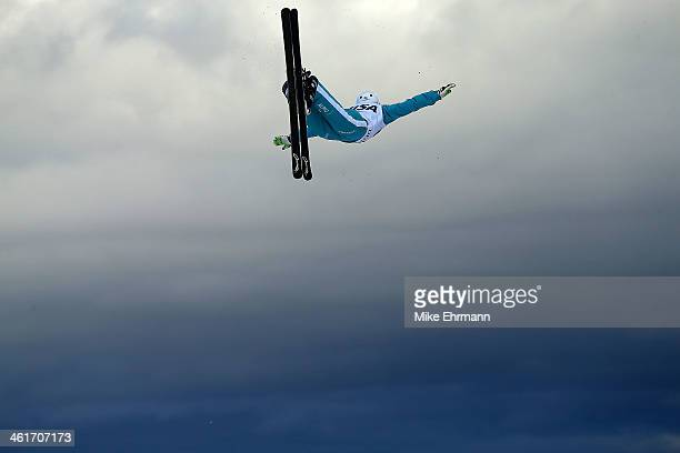 Mischa Gasser of Switzerland competes during qualifying for the Mens Aerials at the FIS Freestyle Ski World Cup Aerial Competition at Deer Valley on...