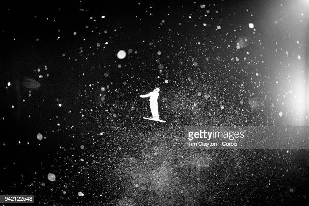 Mischa Gasser of Switzerland in action during the Freestyle Skiing Men's Aerials Final at Phoenix Snow Park on February 18 2018 in PyeongChang South...