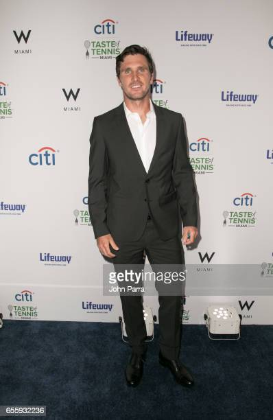 Mischa Zverev arrives at the Citi Taste Of Tennis Miami at W Hotel on March 20 2017 in Miami Florida