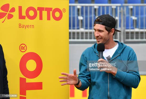 Mischa Zverev attends the draw for the BMW Open at MTTC IPHITOS on April 27, 2019 in Munich, Germany.