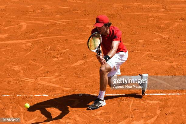 Mischa Zverev of Germany during the Monte Carlo Rolex Masters 1000 at Monte Carlo on April 17 2018 in Monaco Monaco