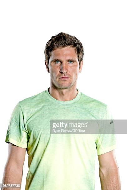 Mischa Zverev of Germany poses for portraits during the Australian Open at Melbourne Park on January 14 2018 in Melbourne Australia
