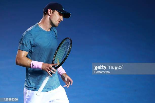 Mischa Zverev of Germany reacts during the match between Rafael Nadal of Spain and Mischa Zverev of Germany as part of the day 2 of the Telcel...