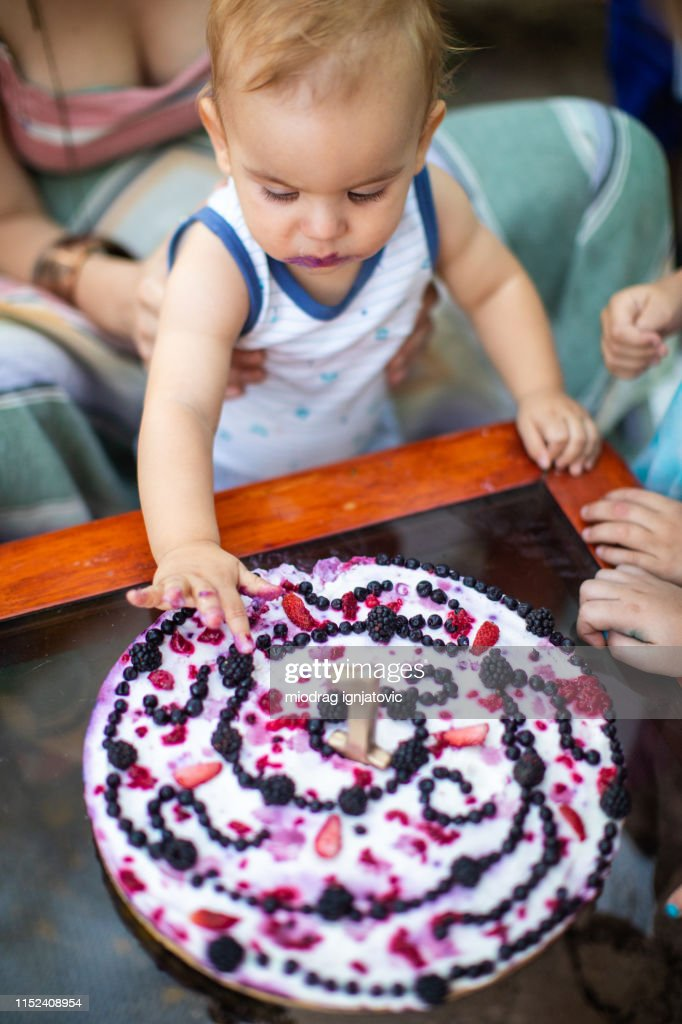 Fine Mischievous Boy Eating Birthday Cake With Hands High Res Stock Funny Birthday Cards Online Inifofree Goldxyz