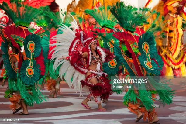 Miscigenacao dance and folklore show with Boi Bumba festival costumes