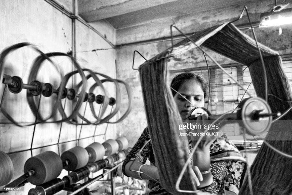 Atelier dans une usine de textile : News Photo