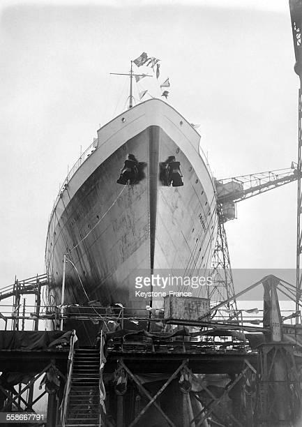 Mise en service du paquebot français 'Colombie' à Dunkerque France en septembre 1931