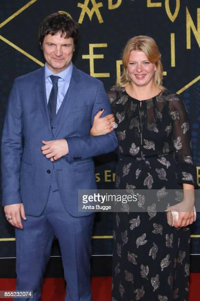 Misel Maticevic and Joerdis Triebel attend the 'Babylon Berlin' premiere at Berlin Ensemble on September 28 2017 in Berlin Germany