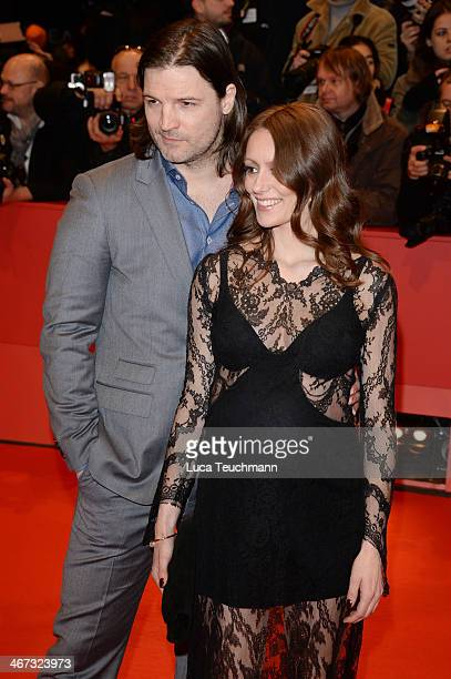Misel Maticevic and Lavinia Wilson attend 'The Grand Budapest Hotel' Premiere during the 64th Berlinale International Film Festival at Berlinale...