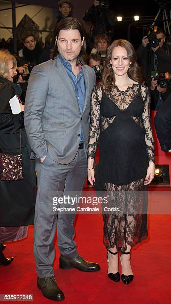Misel Maticevic and Lavinia Wilson attend 'The Grand Budapest Hotel' Premiere and opening ceremony during the 64th Berlinale International Film...