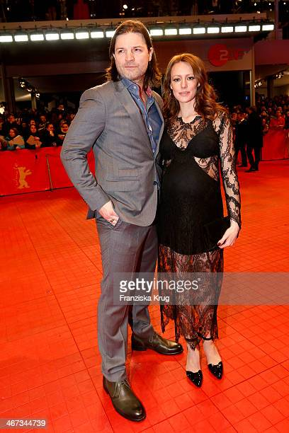 Misel Maticevic and Lavinia Wilson attends 'The Grand Budapest Hotel' Premiere Audi At The 64th Berlinale International Film Festival at Berlinale...