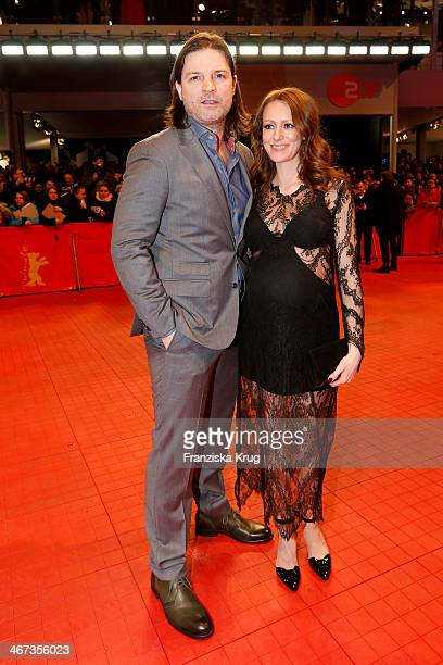 Misel Maticevic and Lavinia Wilson attends 'The Grand Budapest Hotel' Premiere - Audi At The 64th Berlinale International Film Festival at Berlinale...