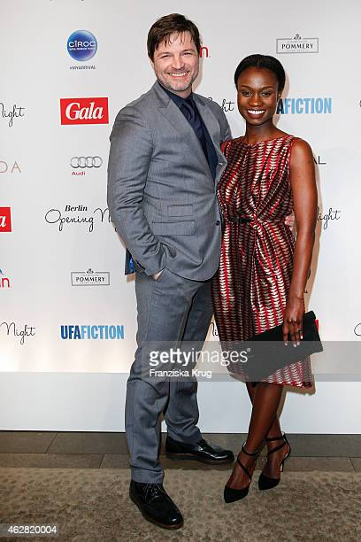 Misel Maticevic and Lorna Ishema attend the 'Berlin Opening Night Of Gala Ufa Fiction on February 05 2015 in Berlin Germany