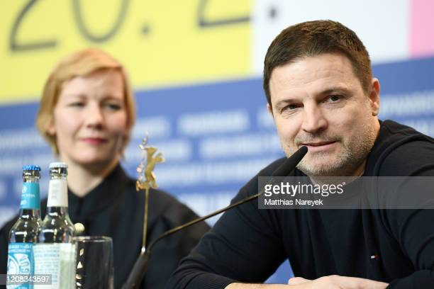 "Misel Maticevic and Sandra Hueller at the ""Exil"" press conference during the 70th Berlinale International Film Festival Berlin at Grand Hyatt Hotel..."