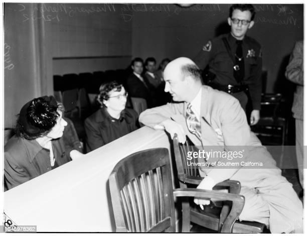 Misener murder preliminary 21 January 1952 Mrs Betty Misener Merton C Misener 34 years Mrs C N Misener Paul M Beck 59 years Santa Monica California...