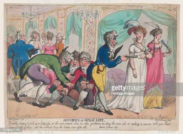 Miseries of High Life March 1 1808 Artist Thomas Rowlandson