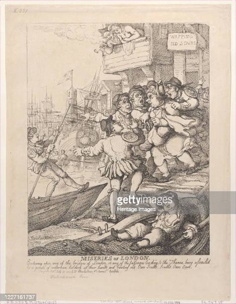 Entering upon any of the bridges of London or any of the passages leading to the Thames being assailed by a group of watermen holding up their hands...