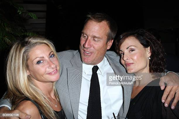 Misha Anderson Nick Griffin and Delia Brown attend CITY MAGAZINE Celebrates 50th Issue at Soho Grand Hotel Courtyard on August 22 2007 in New York...