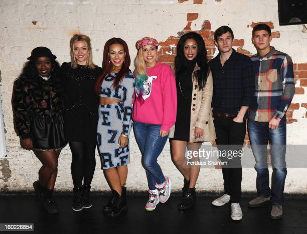 Misha B Cherry Healey Karis Anderson Courtney Rumbold and Alexandra Buggs Will Best and Luke Campbell attend a photocall to launch vInspired's Beta...