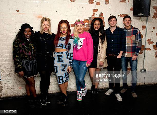 Misha B Cherry Healey Stooshe Will Best and Luke Campbell attend a photocall to launch vInspired's Beta generation live session to inspire young...