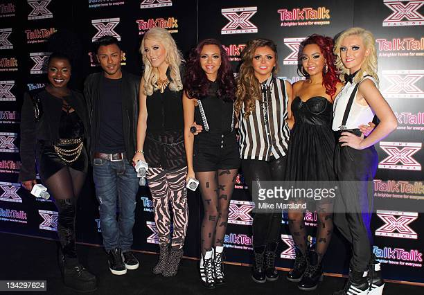Misha B Marcus Collins Amelia Lily Jade Thirlwall Perrie Edwards LeighAnne Pinnock and Jesy Nelson attend the TalkTalk X Factor Secret Gig on...
