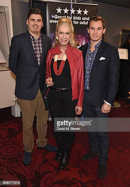 Misha Campbell Lady Collin Campbell and Dima Campbell attend the Press Night performance of Cirque Berserk at The Peacock Theatre on February 9 2016...
